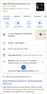 Sage Marketing Solutions on Google