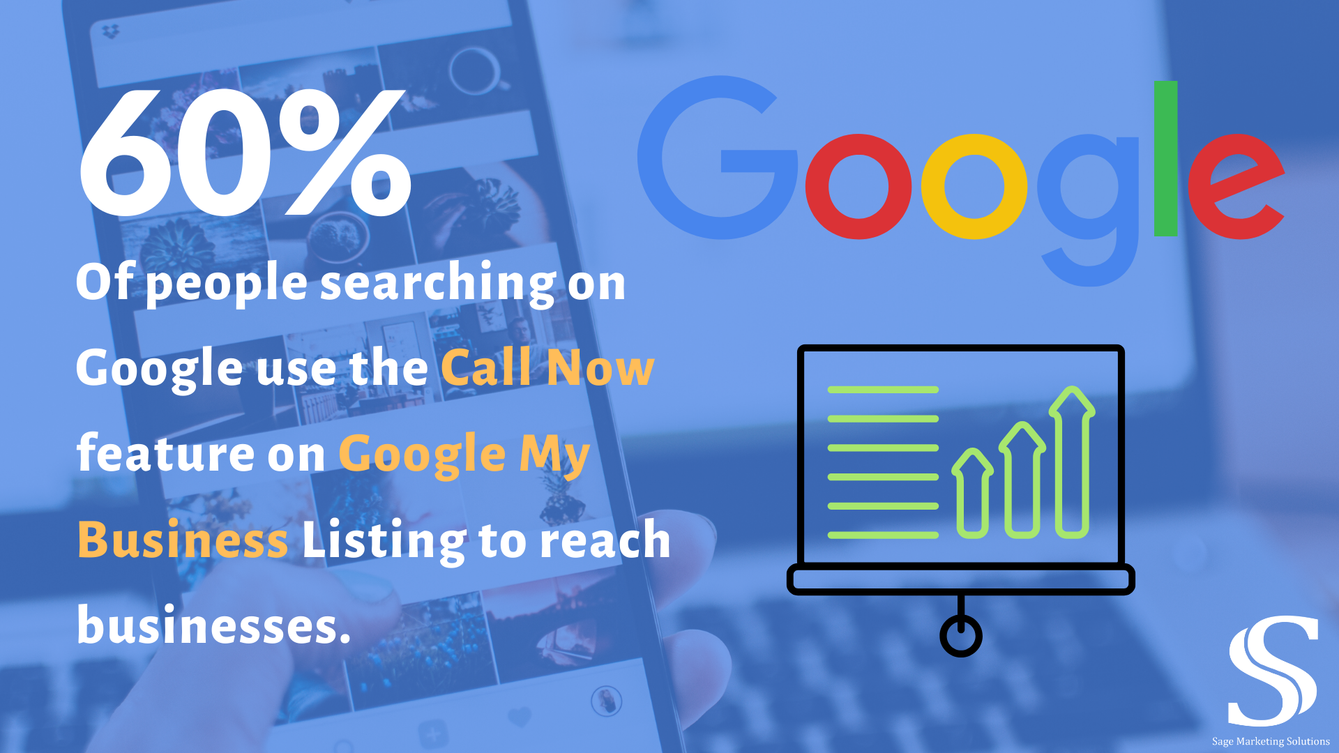 New findings from Google show that more than half of mobile users use the call now button when searching Google
